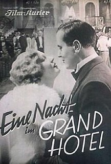 <i>A Night at the Grand Hotel</i> film directed by Max Neufeld