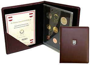 Austrian euro coins - Image: Austria BE set