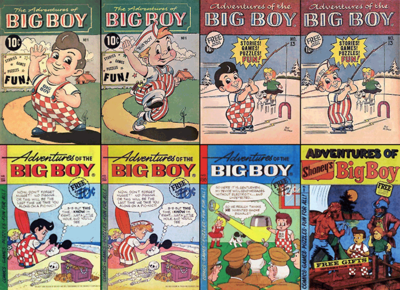 Notable Big Boy comic book cover pages