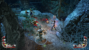 Blood Knights - Jeremy and Alysa engage in combat in co-op mode