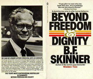 <i>Beyond Freedom and Dignity</i> book by Burrhus Skinner