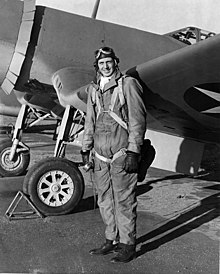 Boone Guyton 1943 with F4U-1.jpg