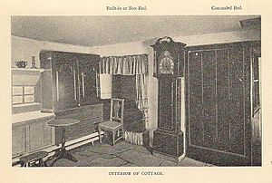 Burns Cottage - Image: Burns Cottage Interior Beds Circa 1904