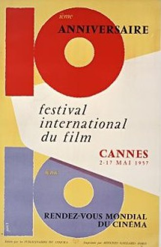 1957 Cannes Film Festival - Official poster of the 10th Cannes Film Festival