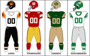 2009 CFL season - West Division Retro Jerseys