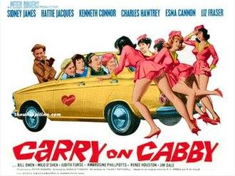 Carry On Cabby - Original UK quad poster