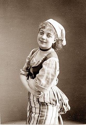 Les cloches de Corneville - Juliette Girard as Serpolette, 1877
