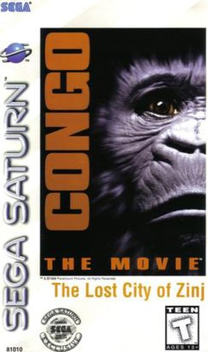 Congo The Movie: The Lost City of Zinj - North American Saturn cover art
