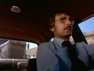 Dennis Weaver - Dennis Weaver as David Mann, in Duel.