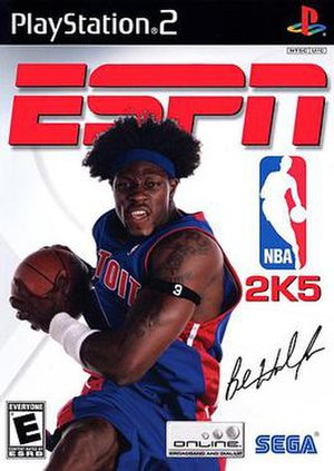ESPN NBA 2K5 - PlayStation 2 cover art featuring Ben Wallace