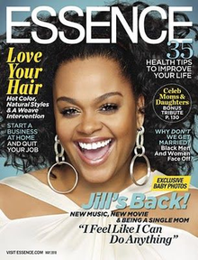 Jill Scott appears on the cover of the May 2010 issue of Essence