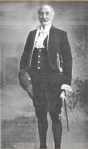 Frederick Goldney - Goldney in Masonic regalia, c. 1915