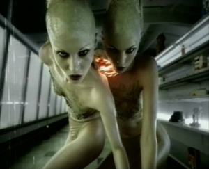 """Push It (Garbage song) - The """"Push It"""" clip won the Best Make-Up MVPA Award for the prosthetic work done on the conjoined twin aliens"""