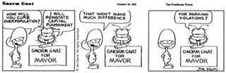 <i>Gnorm Gnat</i> comic strip by Jim Davis