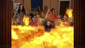 """Double Fine Happy Action Theater - The """"Lava"""" mode of Happy Action Theater. Double Fine's team found that children were more apt to """"play"""" in the lava than to try to avoid it."""