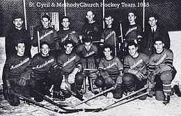 Macedonian Canadian hockey team, 1945