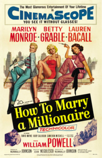 How to Marry a Millionaire - Theatrical release poster