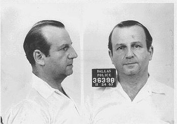 Mugshot taken of Jack Ruby, taken following hi...