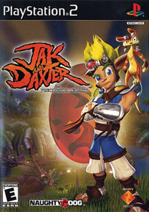 Jak and Daxter: The Precursor Legacy - North American PlayStation 2 cover art