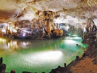 Jeita Grotto - Lower cave at Jeita.