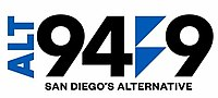 KBZT ALT 94.9 San Diego's Alternative logo.jpg