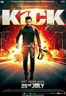 <i>Kick</i> (2014 film) 2014 film by Sajid Nadiadwala