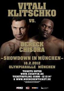 Vitali Klitschko vs. Dereck Chisora Boxing competition