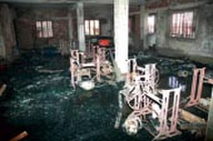 2006 Kolkata leather factory fire - The interior of the factory after the fire had been extinguished.