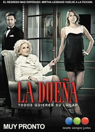 La dueña (Argentine TV series) - From left to right: Félix Fernández (Benjamín Vicuña), Sofía Ponte (Mirtha Legrand) and Amparo Lacroix (Florencia Bertotti)