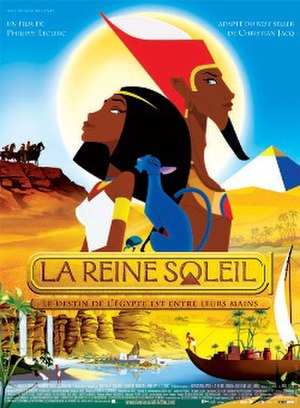 La Reine Soleil - film poster depicting Akhesa and Akhenaten