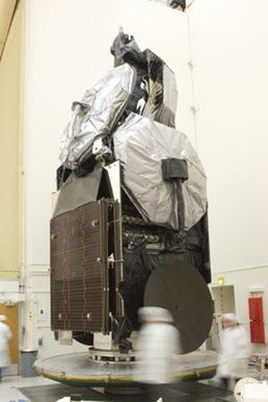 MEASAT Satellite Systems - Technicians at Boeing's Space and Intelligence Systems satellite manufacturing facility in El Segundo, California, prepare the MEASAT-3 communications satellite.