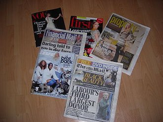 The Mail on Sunday - An issue of The Mail on Sunday from 25 November 2007 with all its supplements. The First magazine was included as a preview before it was released on general sale.