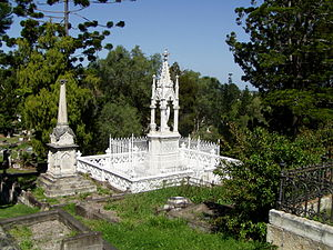 Mary Emelia Mayne - The ornate Mayne family tomb at Brisbane's Toowong Cemetery