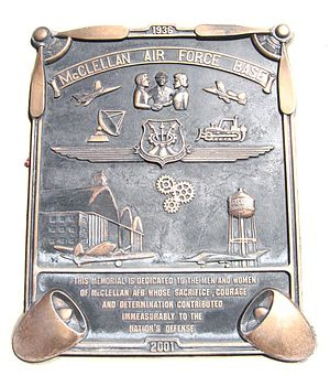 McClellan Air Force Base - Memorial Plaque of McClellan AFB