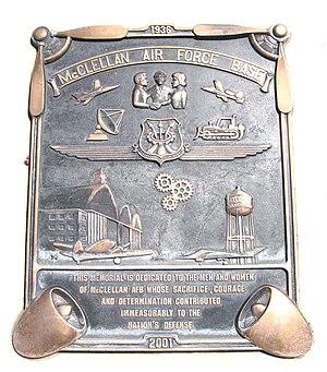 McClellan Air Force Base - Memorial Plaque of McClellan AFB