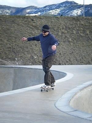 Skater at Missoula Skate Park.