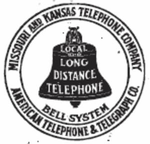 Southwestern Bell - Missouri and Kansas Telephone Company logo, 1899-1920