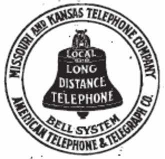 Southwestern Bell - Missouri and Kansas Telephone Company logo, 1899-1920