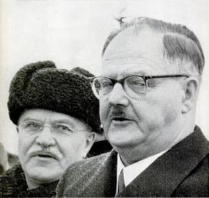 Julius Raab - April 1955: Chancellor Raab (right) meets Molotov (left) in Moscow
