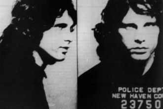 The Doors - Morrison's mugshot taken in New Haven