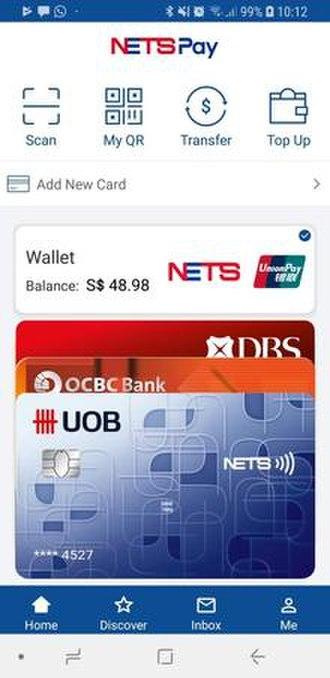 NETS (company) - Image: NETS Pay Home Screen