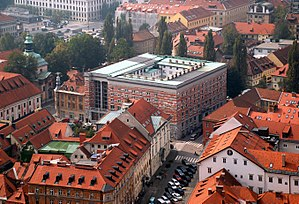 National and University Library of Slovenia - View from Ljubljana Castle