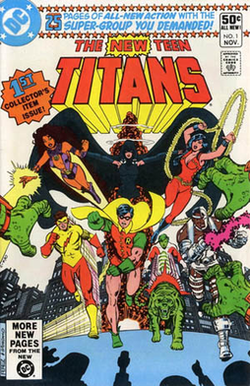 Cover to The New Teen Titans #1 (Nov. 1980). Art by George Pérez and Dick ...