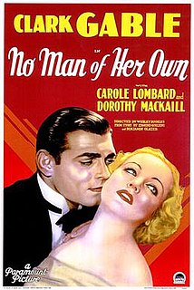 <i>No Man of Her Own</i> (1932 film) 1932 film by Wesley Ruggles