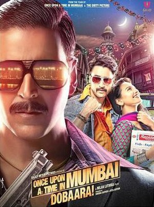 Once Upon ay Time in Mumbai Dobaara! - Theatrical release poster