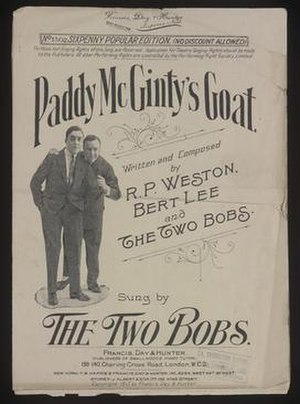 Paddy McGinty's Goat - Cover of the sheet music published in 1917 by Francis, Day and Hunter