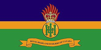 The Royal Highland Fusiliers of Canada - The camp flag of The Royal Highland Fusiliers of Canada.