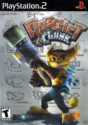 Ratchet & Clank (2002 video game) - North American PlayStation 2 box art