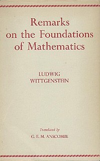 <i>Remarks on the Foundations of Mathematics</i> book by Ludwig Wittgenstein