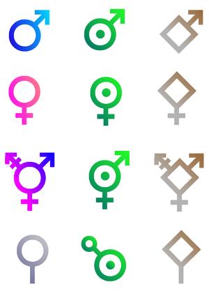 SF gender symbols
